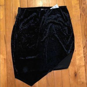Charlotte Russe fitted velvet skirt!
